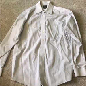 Joseph A. Bank men's striped dress shirt